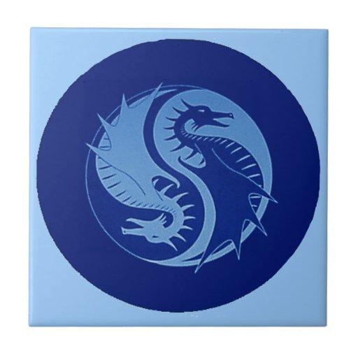 Yin Yang 2 Azulejo Cerámica