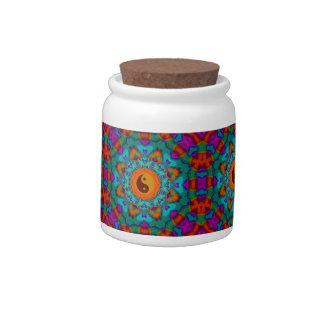 Yin yang 70's candy jars