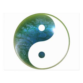 Yin Yang Abstact 1 Postcard