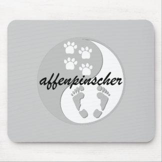 yin yang affenpinscher mouse pad