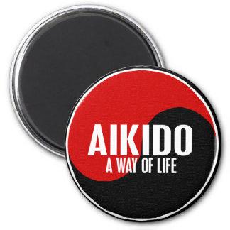 Yin Yang Aikido 1 2 Inch Round Magnet