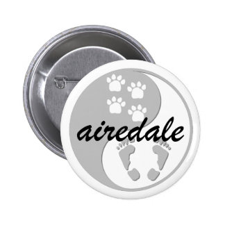 yin yang airedale 2 inch round button