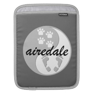 yin yang Airedale Terrier iPad Sleeves