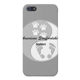 yin yang american staffordshire terrier iPhone SE/5/5s case