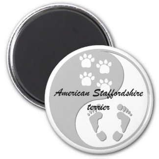 yin yang american staffordshire terrier fridge magnets