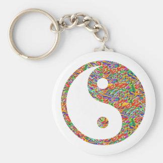 Yin Yang and Canadian Goldmine Jewel Art Basic Round Button Keychain