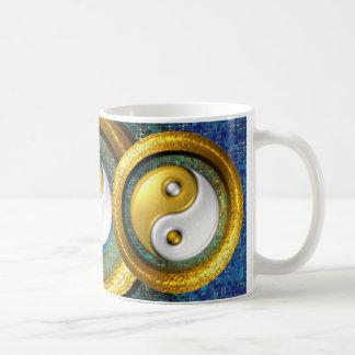 Yin-Yang and Golden Rings in balance /Mug 11oz