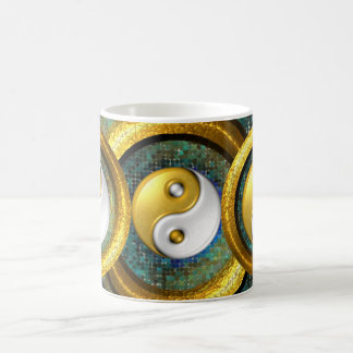 Yin-Yang and Golden Rings in balance /Mug 11oz Coffee Mug
