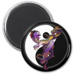 Yin Yang and the Dragons Dance of Love 2 Inch Round Magnet