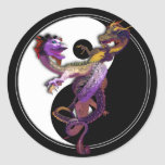 Yin Yang and the Dragons Dance of Love Classic Round Sticker