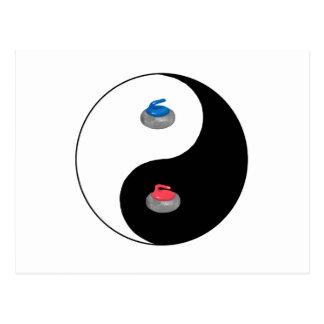 Yin Yang and Zen of Curling Postcard