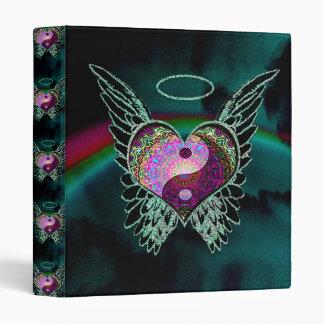 Yin Yang, Angel Wings and Heart 3 Ring Binders