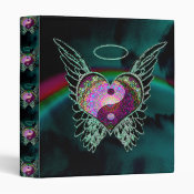 Yin Yang, Angel Wings and Heart Binder (<em>$22.00</em>)