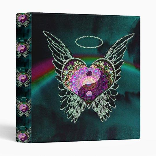 Yin Yang, Angel Wings And Heart Binder