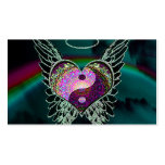 Yin Yang, Angel Wings and Heart Double-Sided Standard Business Cards (Pack Of 100)