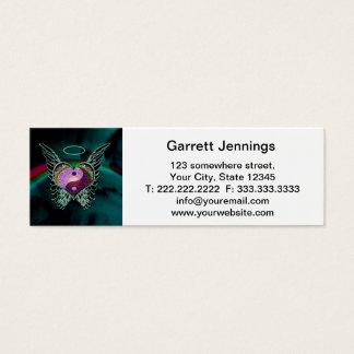 Yin Yang, Angel Wings and Heart Mini Business Card