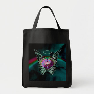 Yin Yang, Angel Wings, Heart and Space Tote Bag