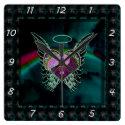 Yin Yang, Angel Wings, Heart and Stars Square Wall Clock (<em>$31.65</em>)
