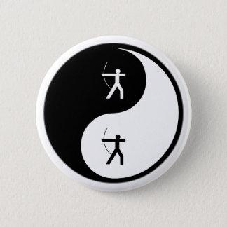 Yin Yang Archery Pinback Button