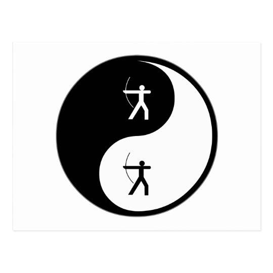 Yin Yang Archery Postcard