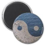 Yin Yang (arena y agua) Imán De Nevera