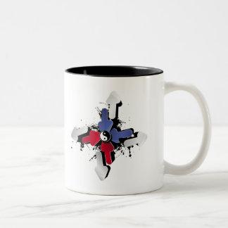 Yin Yang Arrows Two-Tone Coffee Mug