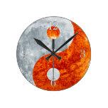 Yin & Yang Asian sign for Balance Wall Clock