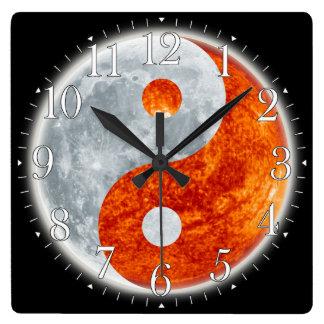 Asian theme wall clock