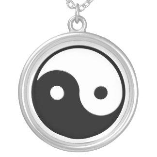 Yin-Yang Asian symbol for Balance Round Necklace