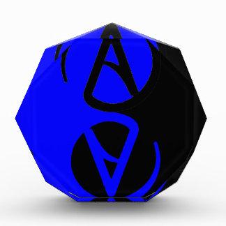 Yin Yang Atheist symbol Acrylic Award