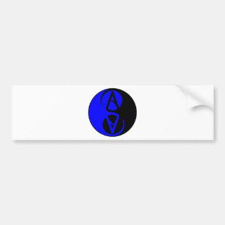 Yin Yang Atheist symbol Bumper Stickers