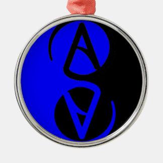 Yin Yang Atheist symbol Metal Ornament