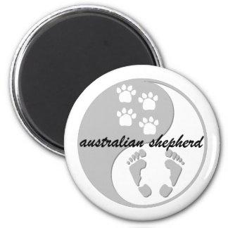 yin yang australian shepherd fridge magnets