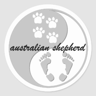 yin yang australian shepherd stickers