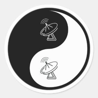 Yin Yang Avionics Classic Round Sticker