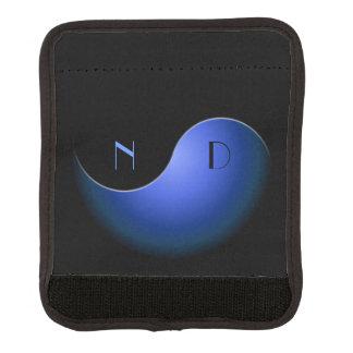 yin yang - azul funda para asa de maleta
