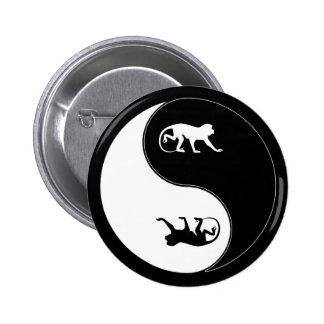Yin Yang Baboon Pinback Button