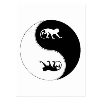 Yin Yang Baboon Postcard