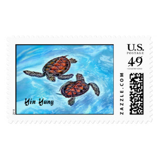 Yin Yang Baby Sea Turtles Postage