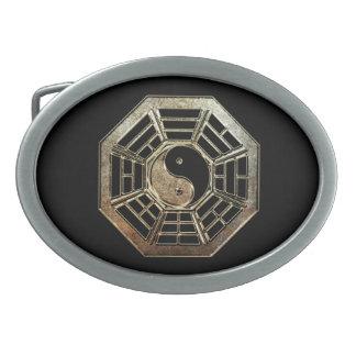 Yin Yang Bagua Oval Belt Buckle