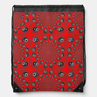 Yin Yang Bagua Taoist Daoist Drawstring Backpack