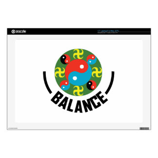 "Yin Yang Balance 17"" Laptop Decal"