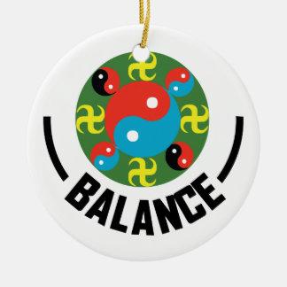 Yin Yang Balance Ceramic Ornament