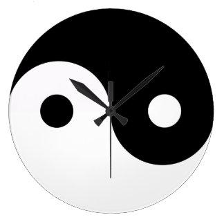 Yin Yang Balance Chinese Symbol Clock