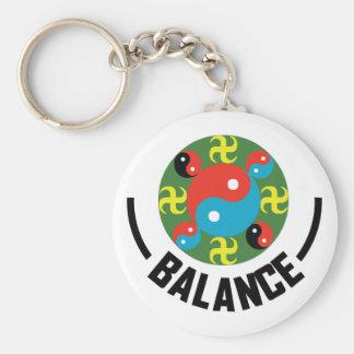 Yin Yang Balance Keychain