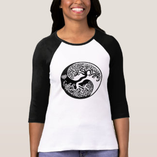 Yin Yang Balance Tree with Celtic Heart T-Shirt