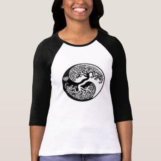 Yin Yang Balance Tree with Celtic Heart T-Shirt