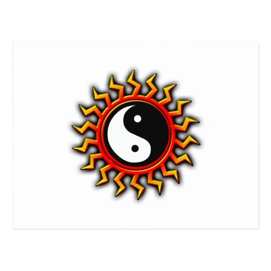 Yin Yang Balanced Sun Postcard