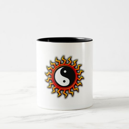 Yin Yang Balanced Sun Two-Tone Coffee Mug