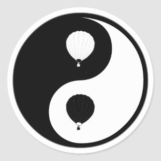 Yin Yang Ballooning Classic Round Sticker